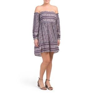 Brand new with tags off the shoulder midi dress